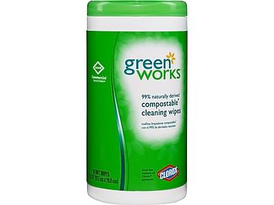 Green Works Wipes, 62/Box, 62/Pack (30380)