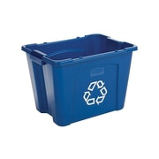Rubbermaid Commercial Products Resin Container, 14 Gal., Blue (FG571473BLUE)