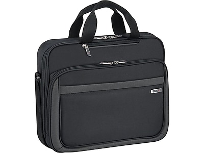Solo The City Collection Pro Laptop Briefcase, Black Polyester (CLA103-4)