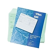 TOPS Employee Record File Straight Cut, 20/Pack (TOP 3287)