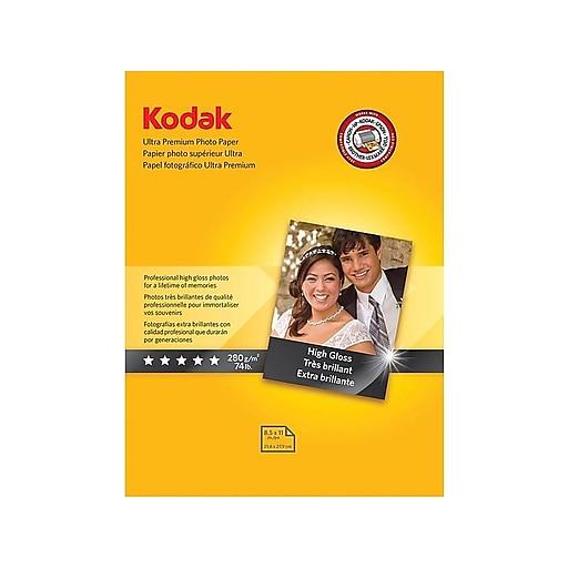 Kodak Ultra Premium Photo Paper White 8 1 2w X 11l 25