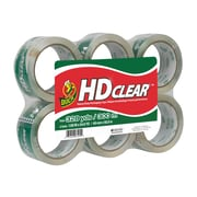 "Duck HD Clear, Acrylic Packing Tape, 1.88"" x 54.6 yds., Clear, 6/Pack (441962)"