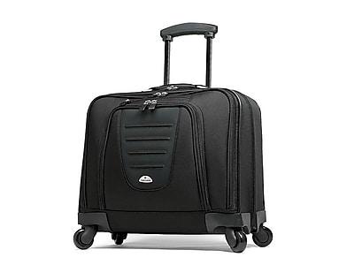 Samsonite Spinner Mobile Office Laptop Rolling Briefcase, Black Nylon (10392-1041)