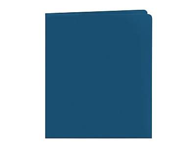 Smead Heavyweight 2-Pocket Portfolio Folders, Dark Blue, 25/Box (87854)