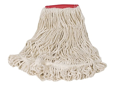 Rubbermaid Super Stitch Mop Head, Tailband (FGD25306WH00)