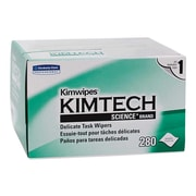 KIMTECH SCIENCE KIMWIPES Delicate Task Durable Fibers Wipers, White, 280/Box (34155)