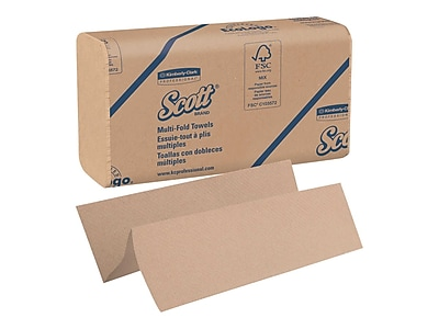 Scott Essential Multifold Paper Towels, 1-Ply, 250 Sheets/Pack, 16 Packs/Carton (01801)