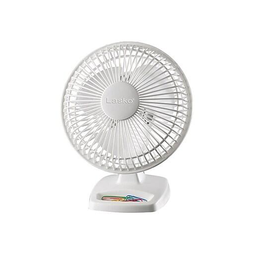 """Lasko 9.25""""H 2-Speed Portable Fan, White (2002W)"""