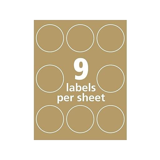 Avery Print-to-the-Edge Laser/Inkjet Multipurpose Labels, 2 1/2
