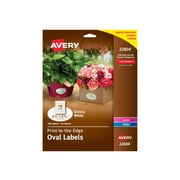 "Avery Easy Peel Laser/Inkjet Multipurpose Labels, 1 1/2"" x 2 1/2"", Glossy White, 18/Sheet, 10 Sheets/Pack (22804)"