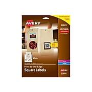 """Avery Easy Peel Laser/Inkjet Multipurpose Labels, 1 1/2"""" x 1 1/2"""", White, 600 Labels Per Pack (22805)"""