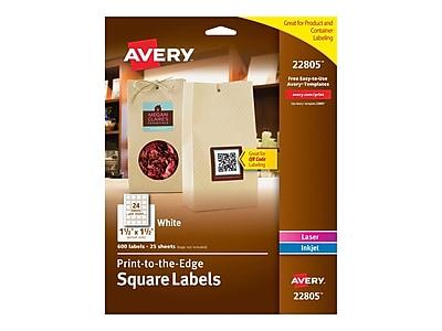 Avery Easy Peel Laser/Inkjet Multipurpose Labels, 1 1/2