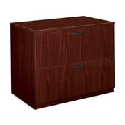 "basyx by HON BL Series 2-Drawer Lateral File Cabinet, Locking, Letter/Legal, Mahogany, 35.5""W (HBL2171.NN)"