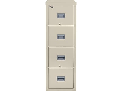 FireKing Patriot 4-Drawer Vertical File Cabinet, Fire Resistant, Letter, Beige, 31.56
