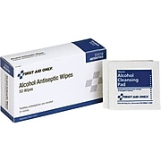 """First Aid Only 2.25"""" x 1.13"""" Alcohol Cleansing Pads, 50/Box (51019)"""