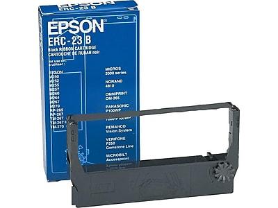 Epson Black Print Ribbon, Each (ERC23B)