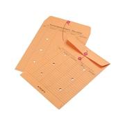 "Quality Park Button & String Inter-Departmental Envelopes, 10"" x 13"", Brown, 100/Box (QUA63560)"