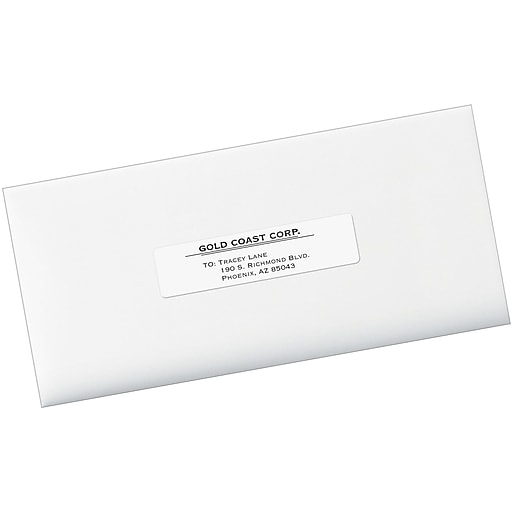 Avery 1 X 4 Laser White Address Labels With Easy Peel 5000box