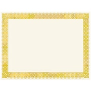 "Gartner 8.5"" x 11"" Certificates, Ivory/Gold, 15/Pack"