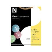 "Exact Vellum Bristol Cardstock Paper, 67 Lbs, 8.5"" x 11"", White, 250/Pack (80218)"