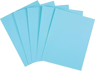 "Staples Cardstock Paper, 110 lbs, 8.5"" x 11"", Blue, 250/Pack (49702)"