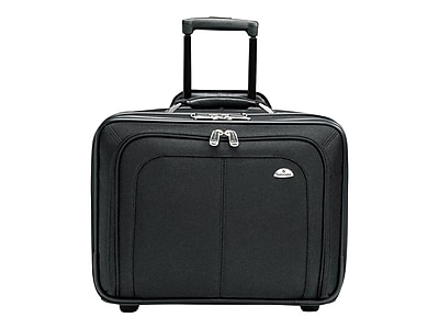 Samsonite Business One Mobile Office Laptop Rolling Briefcase, Black Nylon (11021-1041)