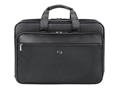 Solo Midtown Collection Paramount Laptop Briefcase, Black Polyester (SGB300-4)
