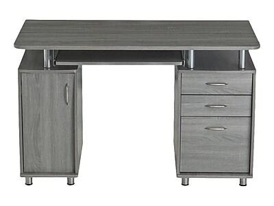 """Techni Mobili 48"""" Computer Desk, Gray (RTA-4985-GRY)"""