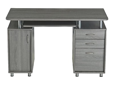 Charmant Techni Mobili Complete Workstation Computer Desk With Storage. Color: Grey  | Staples