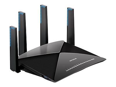 Netgear Nighthawk X10 R9000-100NAS Tri Band Wireless and Ethernet Router, Black
