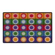 "Flagship Carpets Dot Spots Nylon 90""L x 144""W Rectangle Tufted Rug, Multi-Colored (FE118-44A)"
