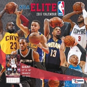 Turner Licensing NBA Elite 2017 12X12 Wall Calendar (17998011969)