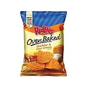 Ruffles Oven Baked Chips, Cheddar & Sour Cream, 1.13 Oz., 64/Carton (FRI44400)