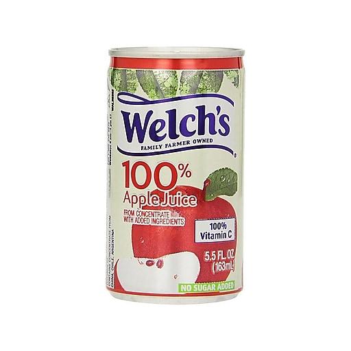 Welch's Apple Juice, 5.5 Oz., 48/Carton (28300)