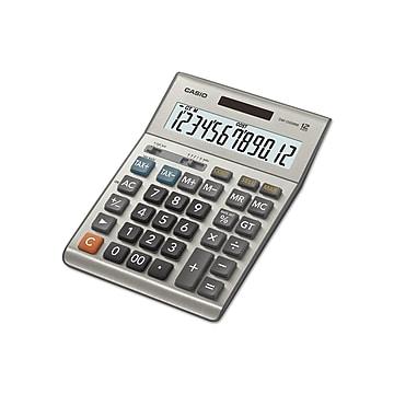 Casio DM-1200BM 12-Digit Desktop Calculator, Gray