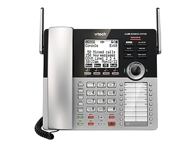 VTech Small Business System CM18445 4-Line Cordless Phone, Silver/Black