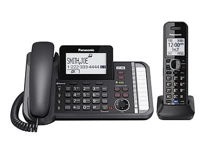 Panasonic Link2Cell KX-TG9581B 2-Line Corded Phone, Black