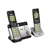 VTech CS5129-2 2-Handset Cordless Telephone, Silver/Black