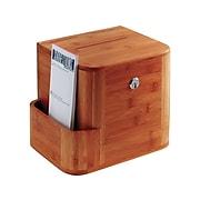 Safco Bamboo Locking Wood Suggestion Box, Cherry (4237CY)