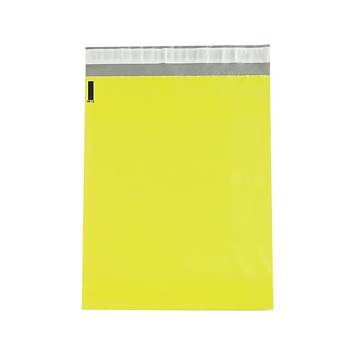 "14.5""W x 19""L Peel & Seal Colored Poly Mailer, Yellow, 100/Carton (CPM1419Y)"