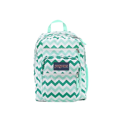 JanSport Big Student Backpack, Geometric, Aqua Chevron (JS00TDN70C6)