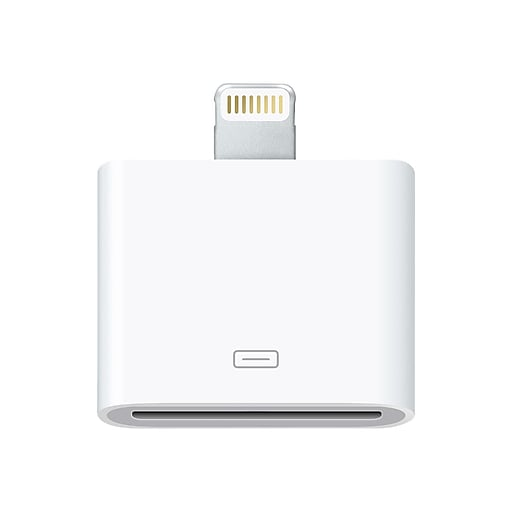 Apple Lightning to 30-Pin Adapter for iPhones, iPads and iPods with Lightning Connector (MD823AM/A)