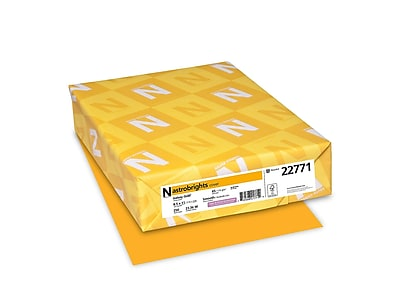 """Astrobrights Cardstock Paper, 65 lbs, 8.5"""" x 11"""", Galaxy Gold, 250/Pack (22771)"""
