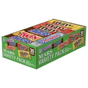 Mars Chocolate Full-Size Candy Bars Variety Pack, Pack of 30 (MMM51950)