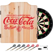 Coca Cola Dart Cabinet Set with Darts and Board - 5 Cents Red (190836399420)