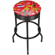 Coca Cola Black Ribbed Bar Stool - Pop Art (190836399277)