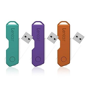 Lexar® JumpDrive® TwistTurn2 32GB USB Flash Drive, 3/Pack (LJDTT2-32GABNA3)