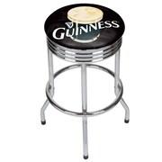 Guinness Chrome Ribbed Bar Stool - Smiling Pint (190836334964)