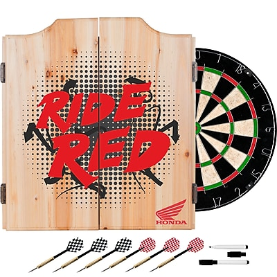Honda Dart Cabinet Set with Darts and Board - Ride Red (190836399215)