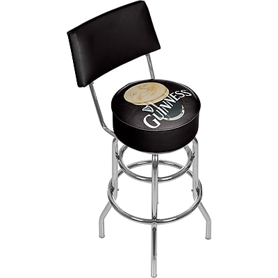 Guinness Swivel Bar Stool with Back - Smiling Pint (190836335046)